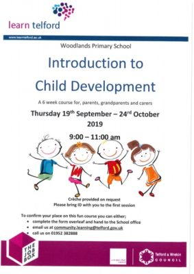 Introduction to Child Development - Starting Thursday 19th September