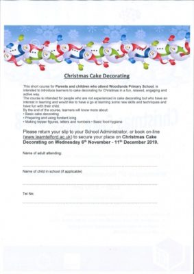 CHRISTMAS CAKE DECORATING STARTING WEDNESDAY 6TH NOVEMBER